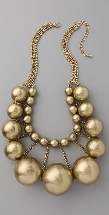 Adia Kibur Gold Ball Necklace