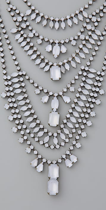 Adia Kibur White Stone Tiered Necklace