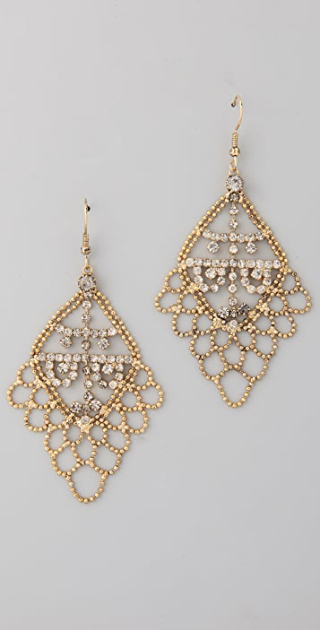 Adia Kibur Crystal Chandelier Earrings