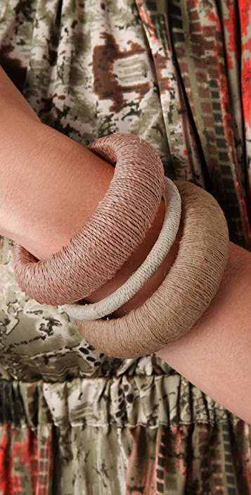 Adia Kibur Thread Wrapped Bangle Set