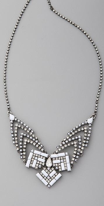 Adia Kibur Studded Triangles Bib Necklace