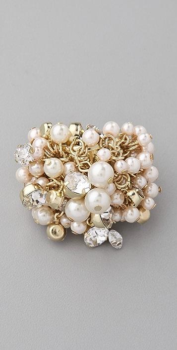 Adia Kibur Pearl & Crystal Cluster Ring