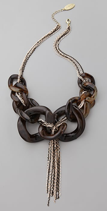 Adia Kibur Resin Link & Chain Necklace