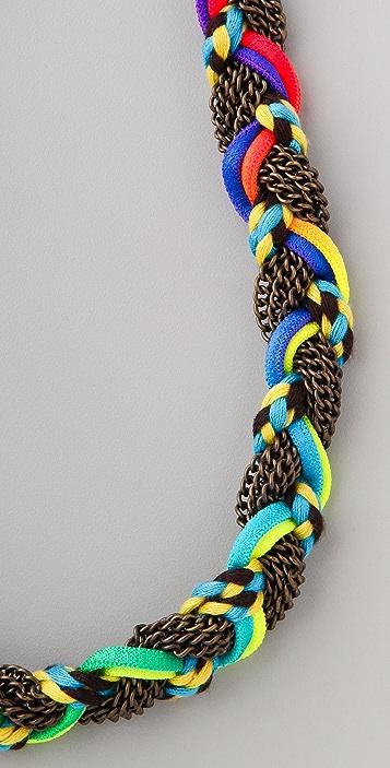 Adia Kibur Chain & Neon Braided Necklace
