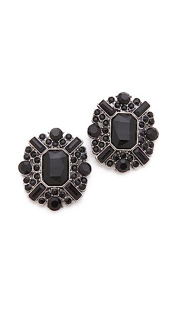 Adia Kibur Stone Cluster Earrings