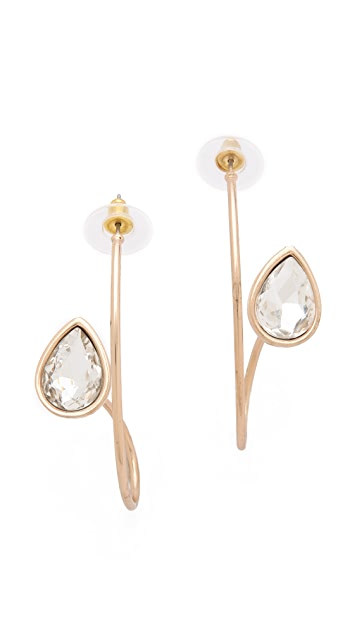 Adia Kibur Crystal Twist Earrings