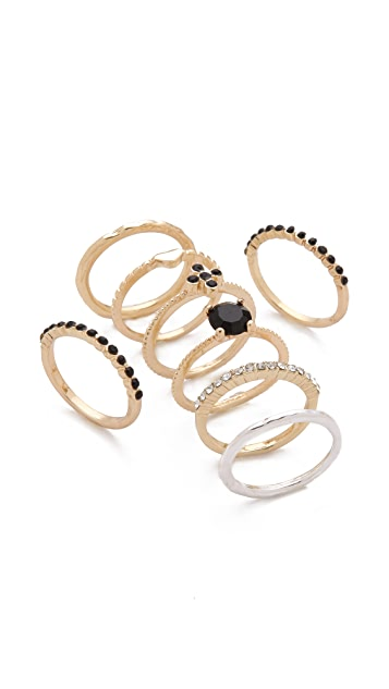 Adia Kibur Jet Stacking Ring Set