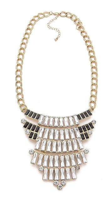 Adia Kibur Crystal Bib Necklace