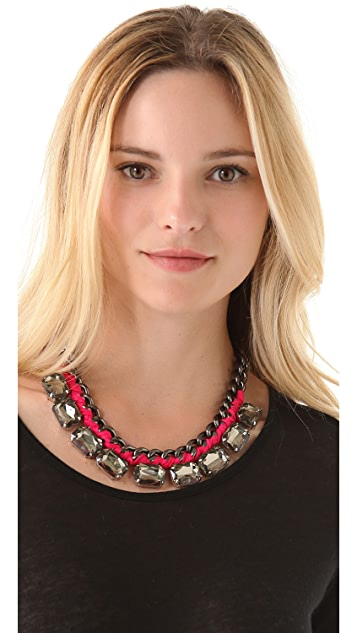 Adia Kibur Crystal Station Necklace