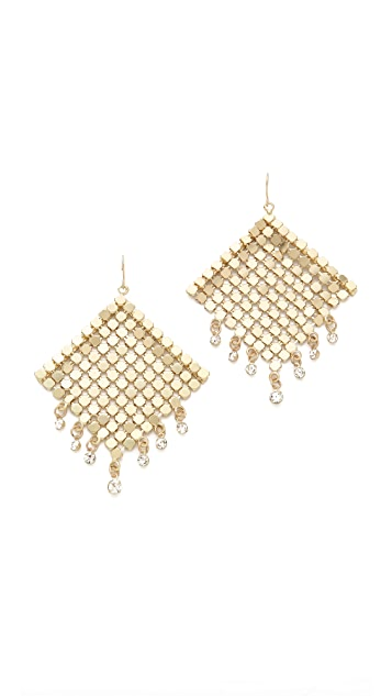 Adia Kibur Chain Crystal Earrings
