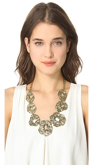 Adia Kibur Hammered Metal Collar