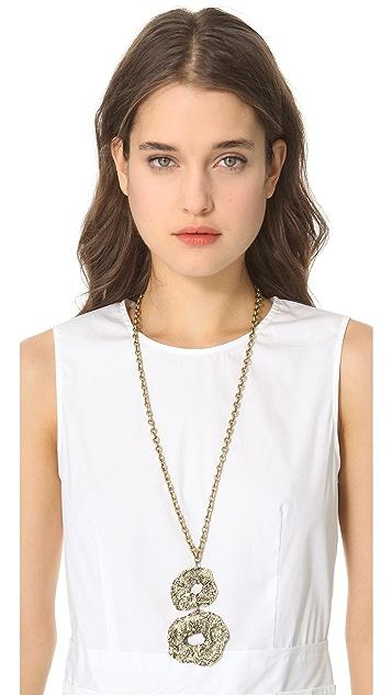 Adia Kibur Hammered Link Necklace