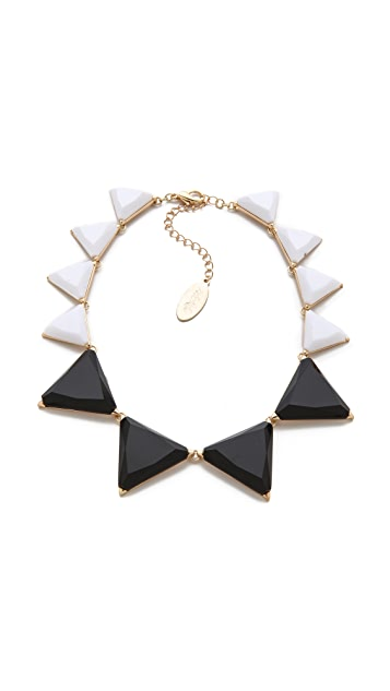 Adia Kibur Resin Triangle Station Necklace