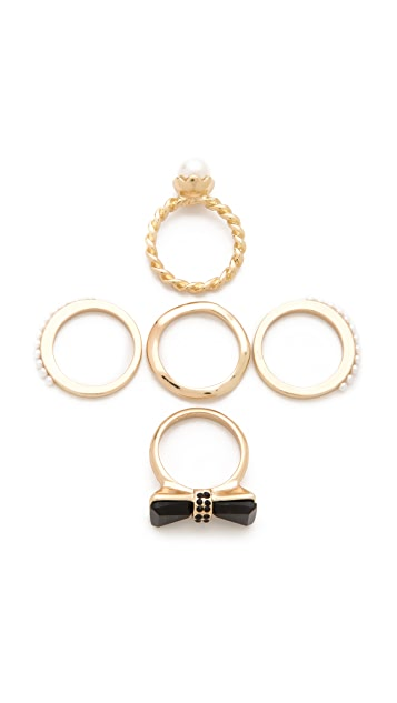 Adia Kibur Bow Ring Set