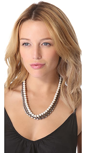 Adia Kibur Chiffon Chain Necklace