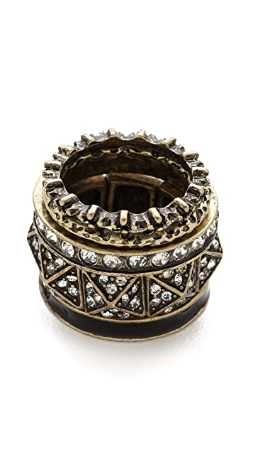 Adia Kibur Pyramid Ring Set
