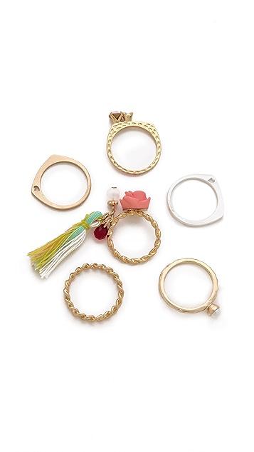 Adia Kibur Rose Ring Set