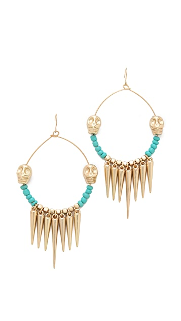 Adia Kibur Bead & Spike Earrings