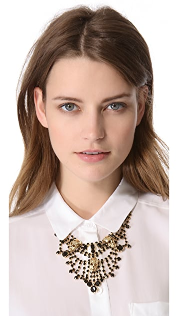 Adia Kibur Skull Chandelier Necklace