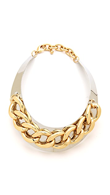 Adia Kibur Chain Link Collar Necklace
