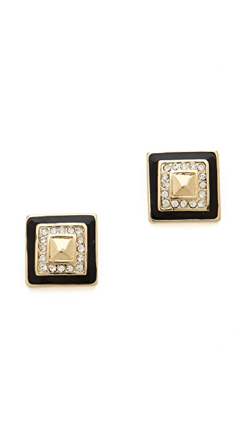Adia Kibur Square Stud Earrings