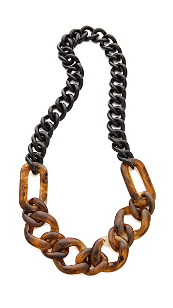 Adia Kibur Tortoise Link Necklace