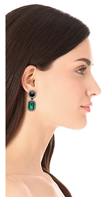 Adia Kibur Gemstone Drop Earrings