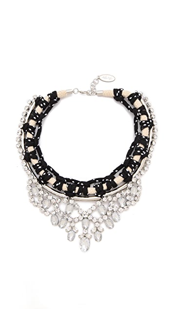 Adia Kibur Chain and Crystal Necklace