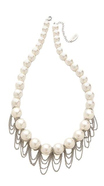 Adia Kibur Imitation Pearl & Chain Necklace