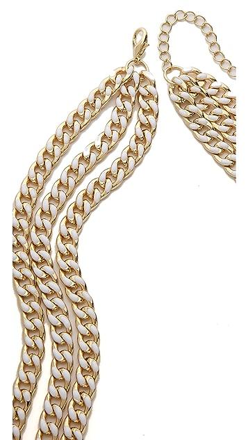 Adia Kibur Triple Layer Chain Necklace
