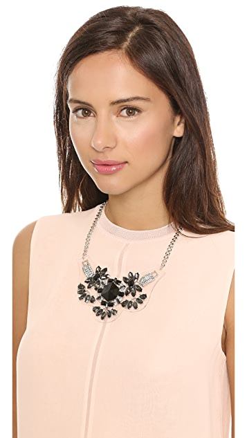 Adia Kibur Crystal Floral Necklace