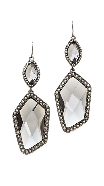 Adia Kibur Crystal Pave Earrings