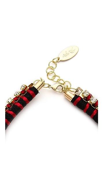 Adia Kibur Crystal Rope Necklace