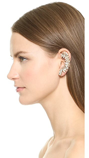 Adia Kibur Crystal Left Ear Crawler & Stud