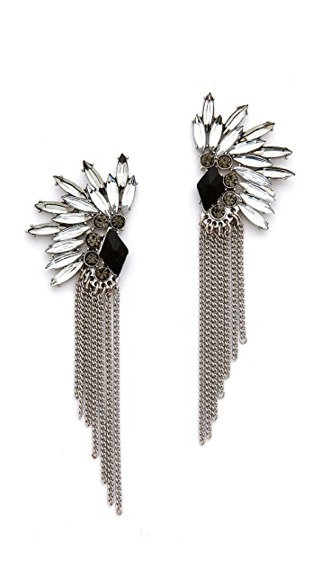Adia Kibur Crystal Fringe Earrings