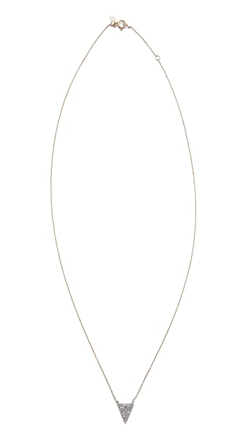 Adina Reyter Solid Pave Triangle Necklace