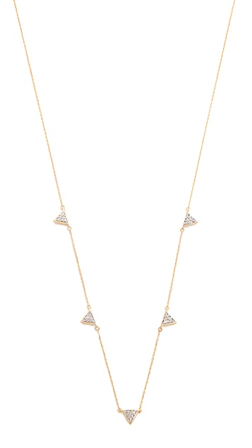 Adina Reyter Super Tiny Solid Triangle Chain Necklace