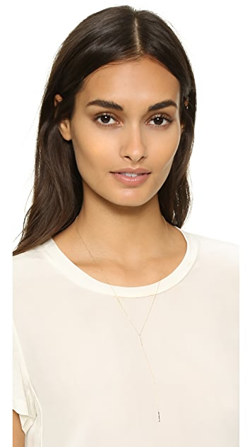 Adina Reyter Pave Double Bar Lariat Necklace