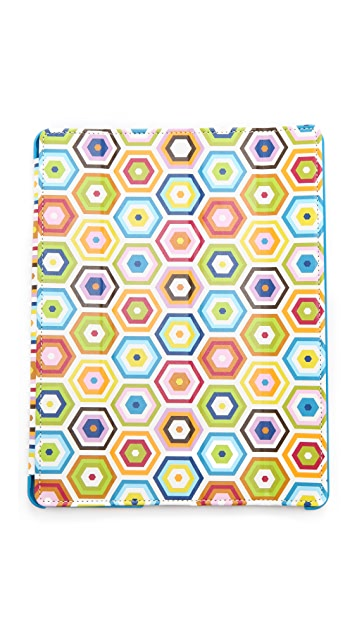 Jonathan Adler Honeycomb iPad Case with Stand