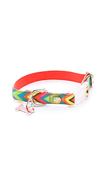 Jonathan Adler Chevron Dog Collar
