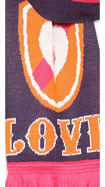 Jonathan Adler Peace & Love Shield Stadium Scarf
