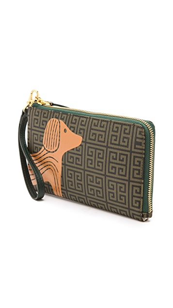 Jonathan Adler Printed Dog Clutch