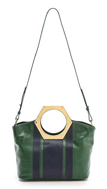 Jonathan Adler Goldie Hex Handle Bag