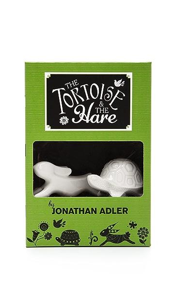 Jonathan Adler Tortoise & the Hare Bottlestopper Set