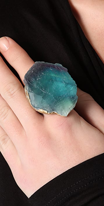 Adina Mills Design Green Fluorite Ring