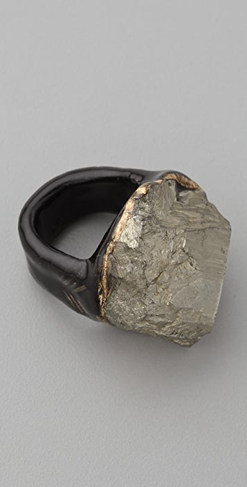 Adina Mills Design Pyrite Cluster Ring