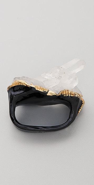 Adina Mills Design Quartz Double Ring