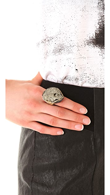 Adina Mills Design Sparkly Pyrite Cluster Ring