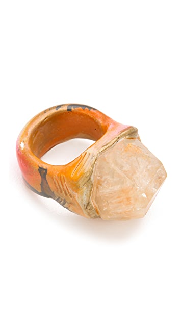 Adina Mills Design Small Elestial Quartz Ring