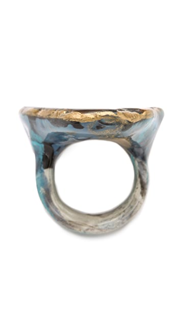 Adina Mills Design Tiger's Eye Slab Ring